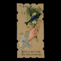 Little French victorian 1st april wishes card