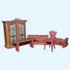 Vintage Dora Kuhn doll's house set