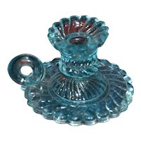 For your doll portieux bleu glass candle holder