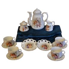 Antique German porcelain coffee set perfect display for your dolls