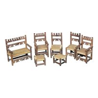 Miniature  vintage parlor set for your doll house