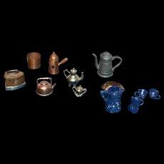 Miniature kitchen ware utensils ;
