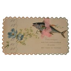 Darling  embossed card for the 1st of april