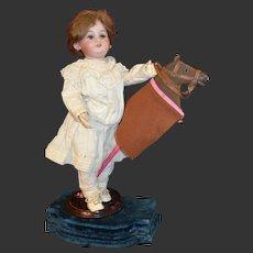Rare gorgeous stick horse for doll Lenoble France