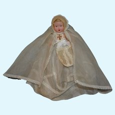Charming antique first communion French celluloid doll