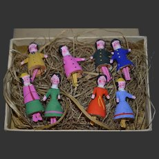 Rare 8 Bristles dolls in outstanding condition