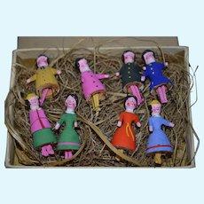 Rare 8 Bristles dolls in outstanding condition