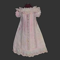 Antique 1880 dress for your French bebe