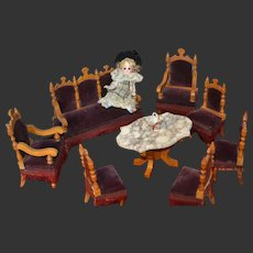 Antique 1900 German parlor set for your doll's house