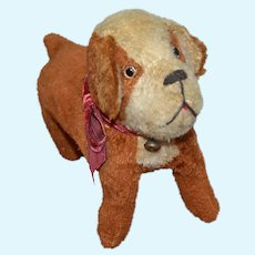 Charming French plush dog 1930's