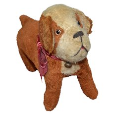 Charming French plush dog 1930's