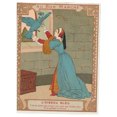 Original trade card from le bon marché