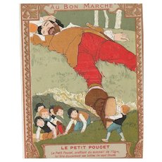 Fairy tell : original trade card from le bon marché