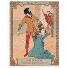 Original trade card from le bon marché
