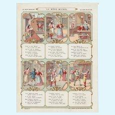 Rare 1900 bon marché trade card, children song