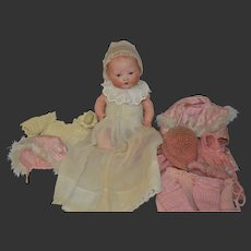 All original German Baby character with trousseau