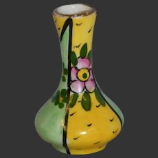 Limoges beautiful tiny vase 1900 art nouveau/ art deco for your doll's house