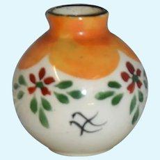 Limoges beautiful tiny vase 1900 art nouveau/ art deco for your doll's house