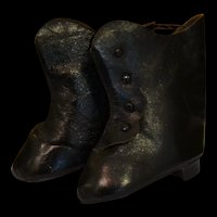 Very nice vintage 1980/1990 pair of leather french boots for doll