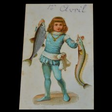Darling victorian card for the 1st of april