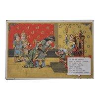 Fairy tell : original trade card from le bon marché
