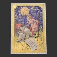 Old song: Le bon marche trade card 1900
