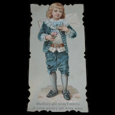 Darling victorian French card love message of the 1st of april