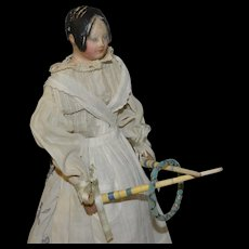 Incredible and wonderful early 1800  French game for your fashion poupée