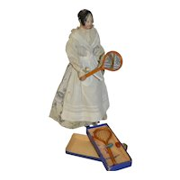 In it original box early 1800 badminton game for your fashion doll