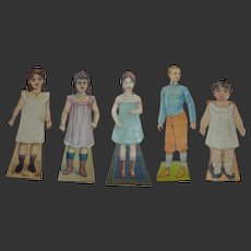 1900  French paper trade doll