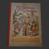 Rare French 1880 child book le menage de poupées