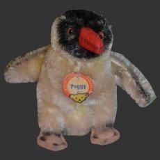 Vintage plush Steiff Peggy Penguin