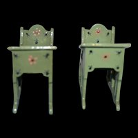 Lovely antique school desk for your doll's house or school