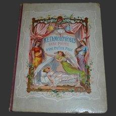 """Gorgeous rare French child book """"LES METAMORPHOSES d'une poupée et d'une petite fille"""" early 1 st version 1868"""