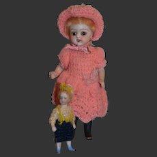 Antique  sweet all bisque,  all original German doll