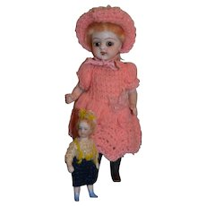 Antique  sweet all bisque,  all original German doll