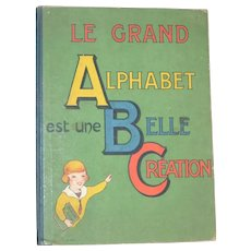 Antique child  French ABC book