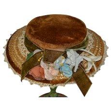 Vintage sweet hat for doll