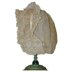 Lovely antique bonnet for your doll