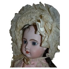 Gorgeous silk bonnet from France 1880/1890 for your French Bebe