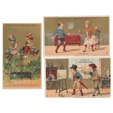 1880/1890 3  French trade cards