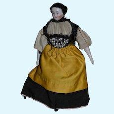 German 1850/1860 dollhouse china doll
