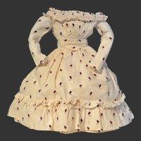 Very nice enfantine antique  fashion dress for your poupée