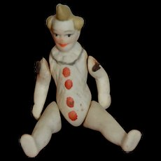 "Tiny German all bisque clown 2""1/2"