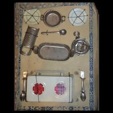 All original cooking set for  your doll from France 1910