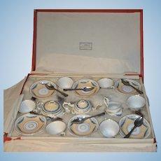 Rare all original tea set 1870 from paris AU PARADIS DES ENFANTS