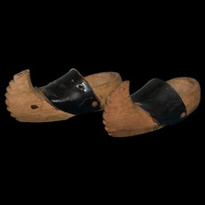 Antique French pair of clog