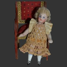 French type tiny all bisque doll for your doll's house