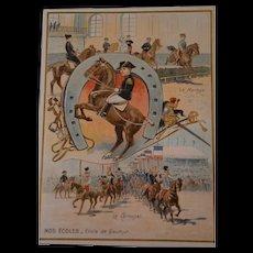 Wonderful rare French 1880/1890 lithograph