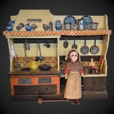 Charming antique doll's kitchen